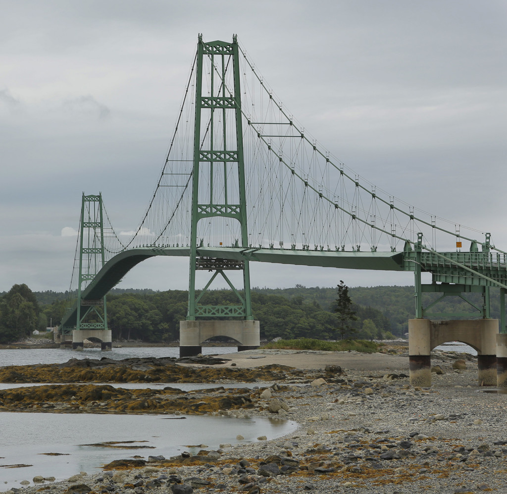 The bridge between Sedgwick and Deer Isle, photographed from Deer Isle.
