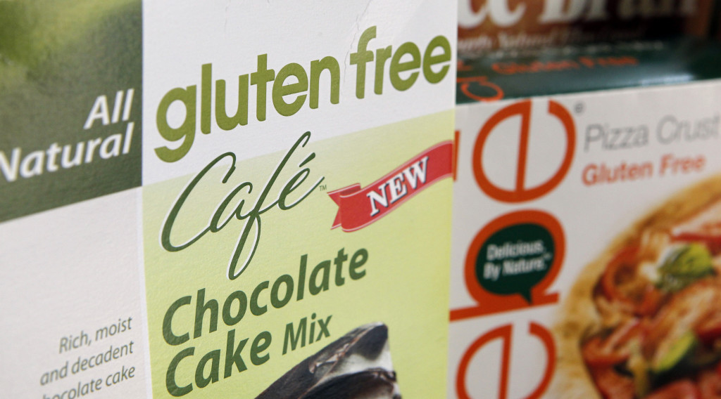 "a variety of foods labeled Gluten Free are displayed in Frederick, Md. Starting this week, ""gluten free"" labels on packaged foods have real meaning. Until now, the term ""gluten free"" had not been regulated, and manufacturers made their own decisions about what it means."