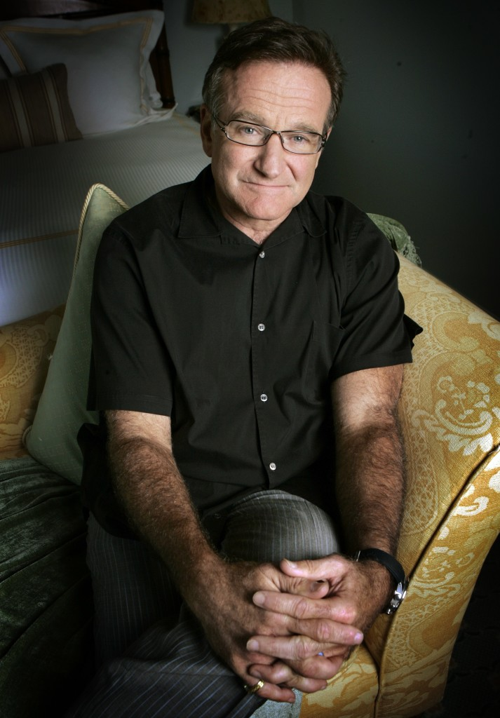 "Robin Williams, posing in 2007 to promote his film ""License To Wed,"" died in an apparent suicide. He was 63."