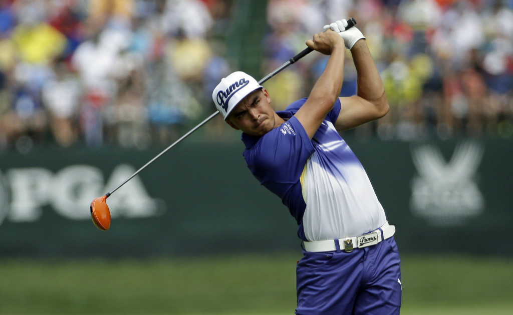 Rickie Fowler is again chasing Rory McIlroy in a major tournament, but this time he enters the final round only two shots back after shooting a 67 in the third round. The Associated Press