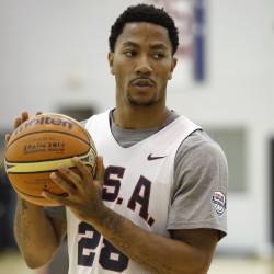 USA Basketball guard Derrick Rose is ready to play for the U.S. basketball team.