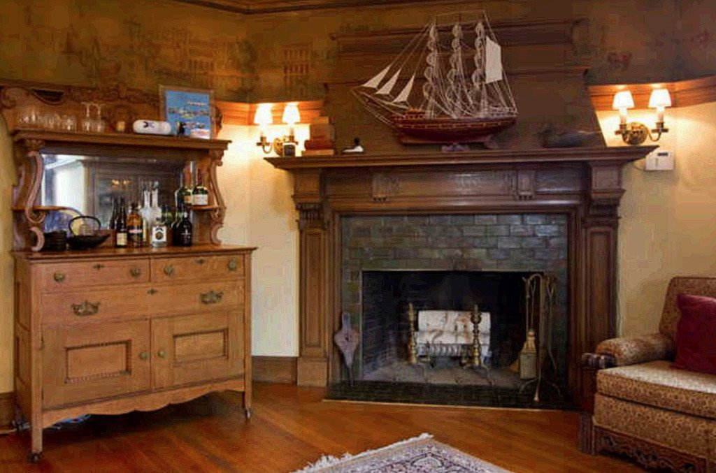 A third-story sitting room contains one of West Mansion's 10 fireplaces. Carl D. Walsh / Staff Photographer