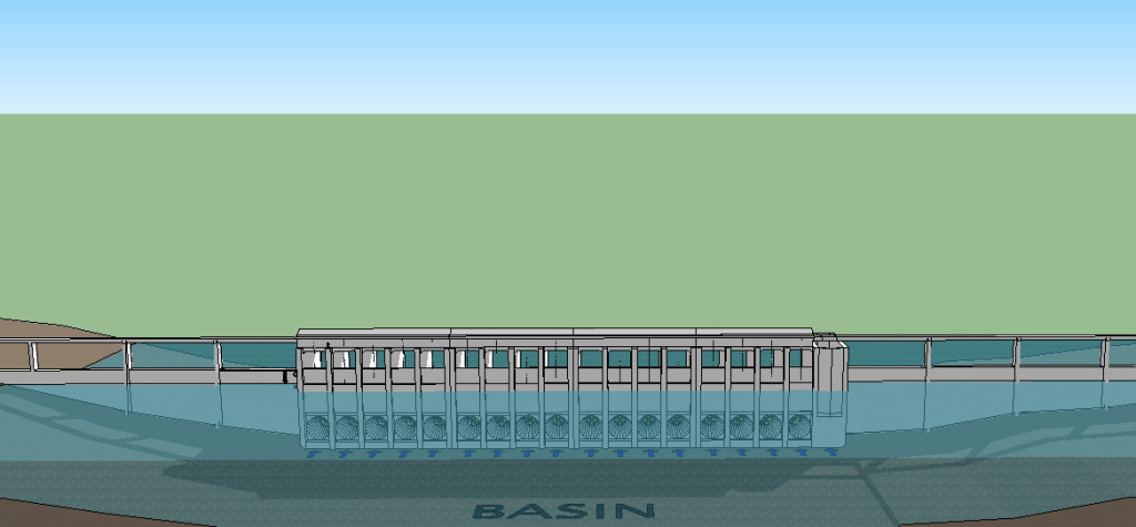 Halcyon Tidal Power says its plant would use pressure from Cobscook Bay's tidal range to drive turbines on incoming and outgoing tides.