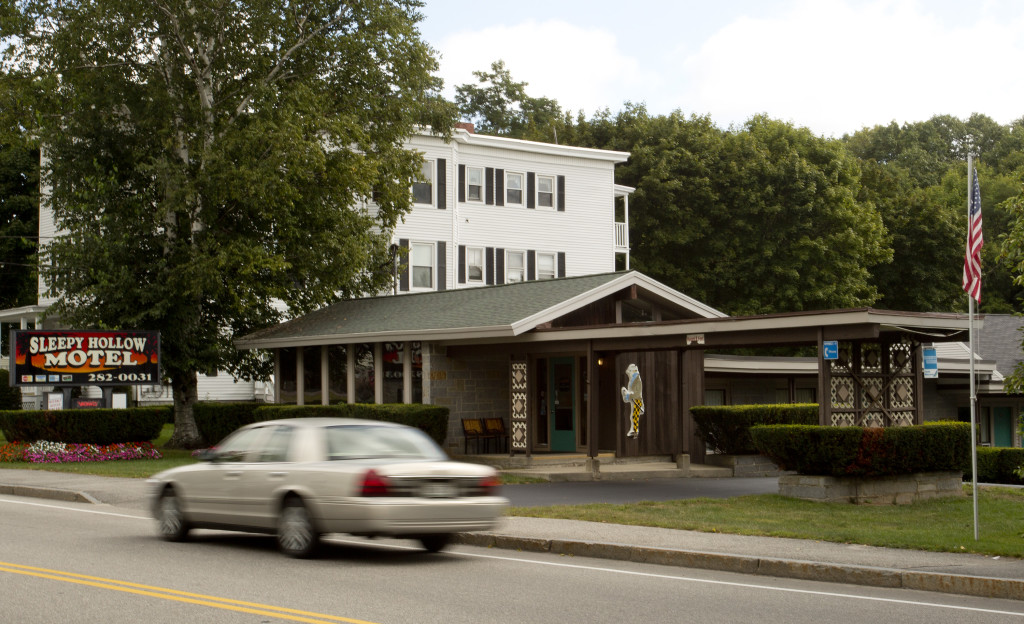 The entrance to the Sleepy Hollow Motel in Biddeford. Gabe Souza / Staff Photographer