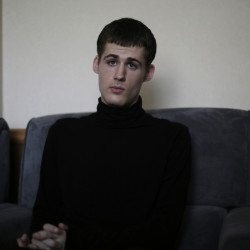 Mathew Miller, an American detained in North Korea speaks to the Associated Press on Monday.