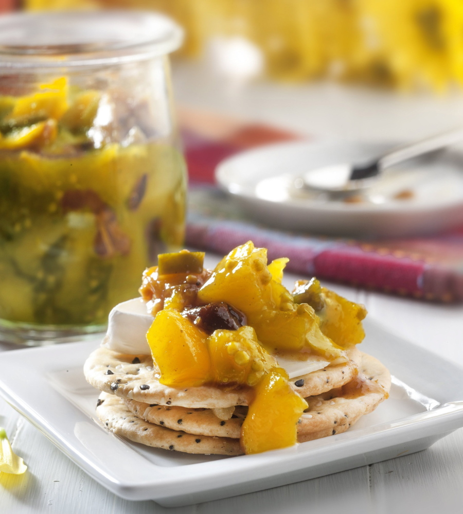 Chutney, like this one made of peaches, can be used as a condiment with a number of dishes, including atop a soft cheese, such as goat or brie.  McClatchy Newspapers photos