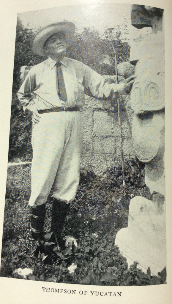 "The author's great-great-grandfather Edward Herbert Thompson is shown in a photo from his book, ""People of the Serpent."""