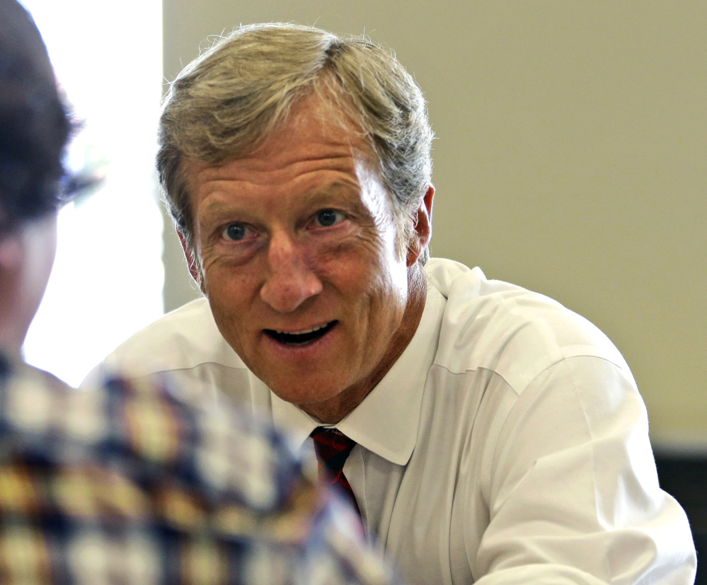 Tom Steyer electrified the political world with his promise to raise and spend as much as $100 million to make climate change an issue in this year's elections, but he's now running out of time. On pace to raise far less money, Steyer's group has a relatively minor presence on the air. He now says his biggest impact will be a get-out-the-vote effort.