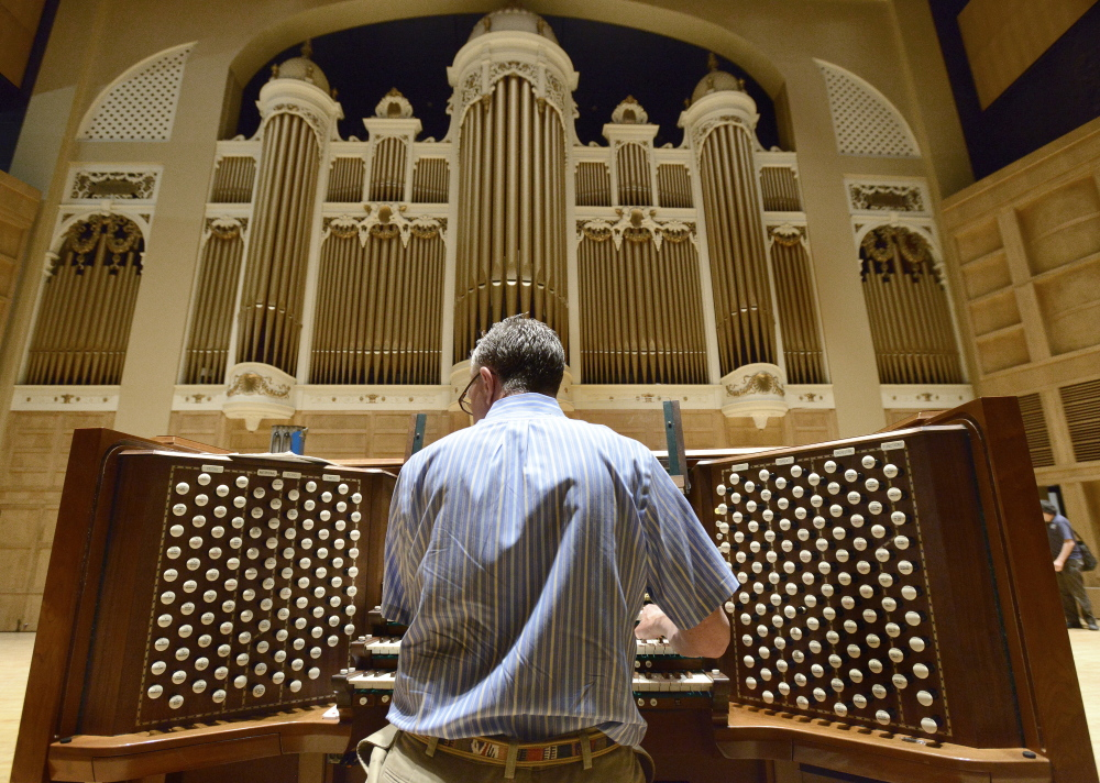 Municipal organist Ray Cornils brings the century-old Kotzschmar Organ back to life at Merrill Auditorium in Portland.