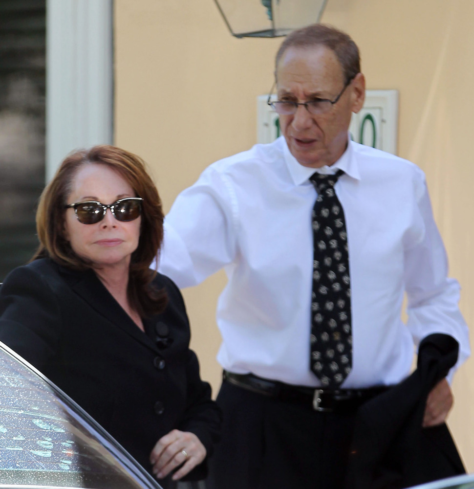 Shirley and Arthur B. Sotloff return home Friday after a memorial service for their son, slain journalist Steven Sotloff, at Temple Beth Am in Pinecrest, Fla.