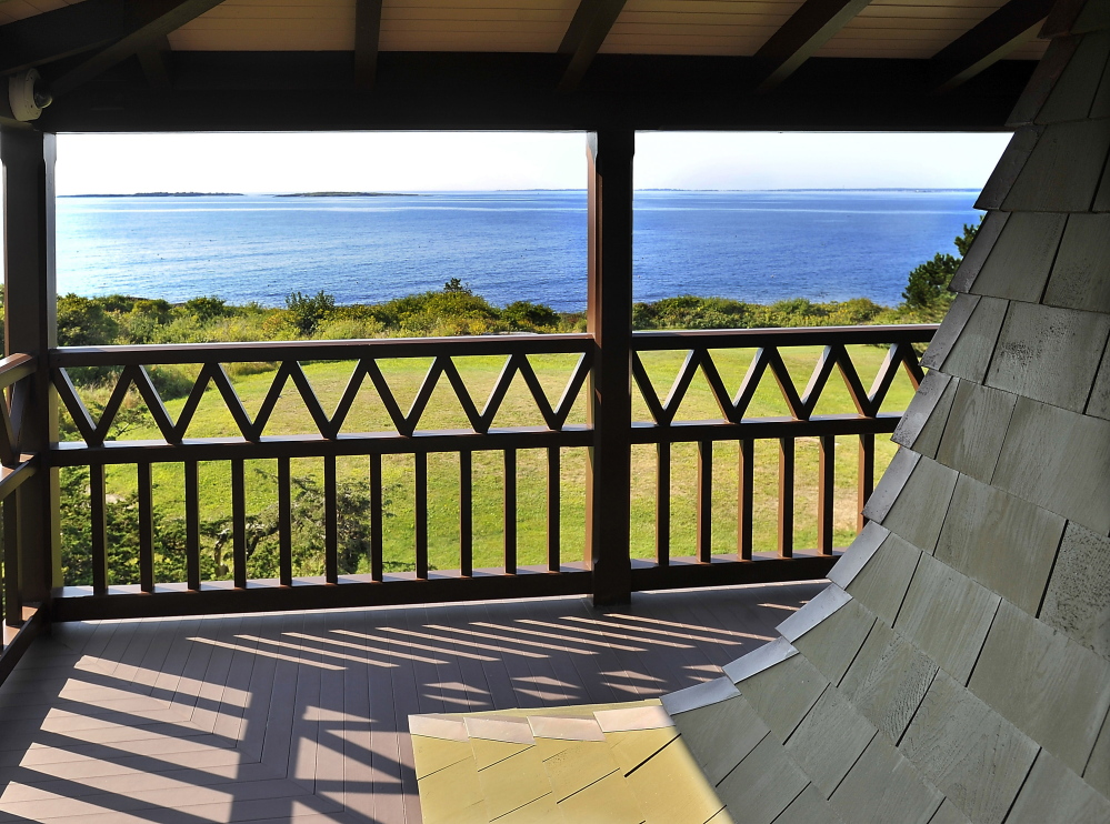 Land in front of Winslow Homer's studio on Prouts Neck, Scarborough, was purchased by the Portland Museum of Art to protect the view of Saco Bay so loved by Winslow Homer for inspiration in his paintings.