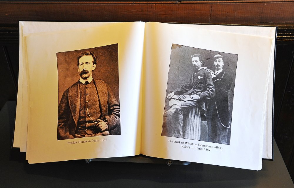 Photos of Winslow Homer while he was visiting Paris in 1867 are in a book in one of the rooms of Winslow Homer's studio in Prouts Neck, Scarborough. Right photo is with Albert Kelsey. Gordon Chibroski/Staff Photographer