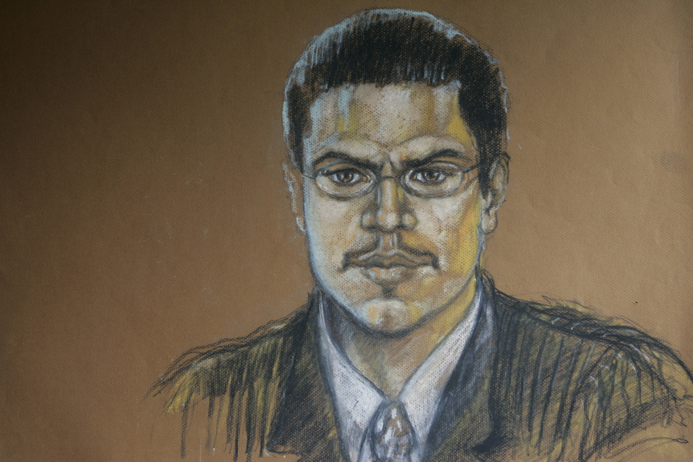 A courtroom sketch shows Jose Padilla during his terrorism trial in Miami. His prison sentence has been increased from 17 to 21 years.
