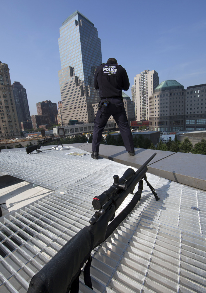 Security will be tight Thursday, as it was during last year's commemoration of 9/11,  when police stood guard at the National September 11 Memorial & Museum plaza.