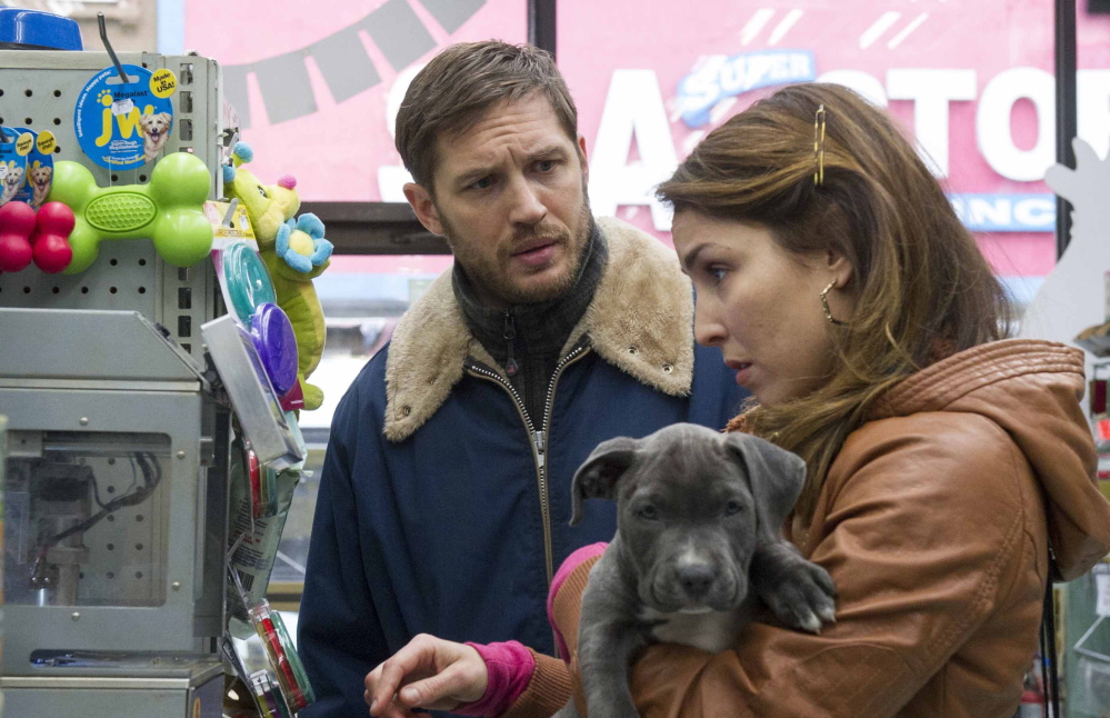 """Tom Hardy and Noomi Rapace in """"The Drop."""""""