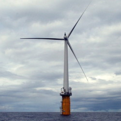 If New England policymakers can show some foresight and creativity, offshore wind turbines, like this experimental one off the coast of Norway, could reverse the region's energy disadvantage.