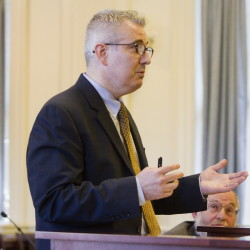 Attorney Daniel Murphy represents the town of York during a hearing Friday where Justice Paul Fritzsche denied an effort to put marijuana legalization on the town's November ballot.