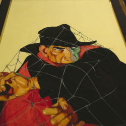 """George Rozen's cover from """"The Grove of Doom"""" from The Shadow Magazine is part of """"The Pulps"""" exhibition opening Friday at the Portland Public Library."""