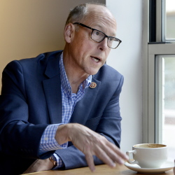 U.S. Rep. Greg Walden, R-Ore., chairman of the National Republican Congressional Committee, speaks during an interview Tuesday at the Arabica coffee shop in Portland.