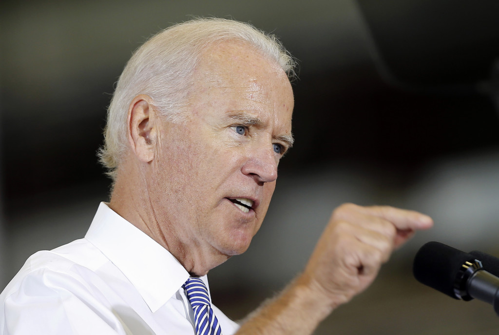 Vice President Joe Biden speaks about the killing of journalist Steven Sotloff while visiting the Portsmouth Naval Shipyard in Kittery on Wednesday.