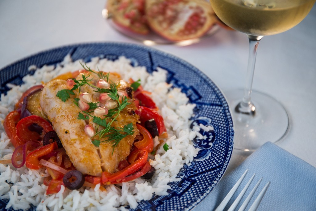 Fish dishes offer a feast of meaning for jewish new year for this fish tagine a mixture of tomatoes eggplant onions and peppers is forumfinder Choice Image