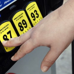 Despite the sharp rise in gas prices, the average price per gallon in Maine is still down $1.22 from 2014's average price of $3.56, according to gasbuddy.com. The Associated Press