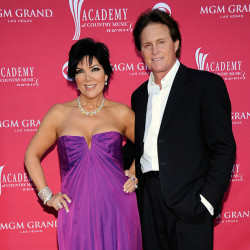 his April 5, 2009 file photo shows Kris Jenner, left, and her husband Bruce Jenner at the 44th Annual Academy of Country Music Awards in Las Vegas. The Associated Press