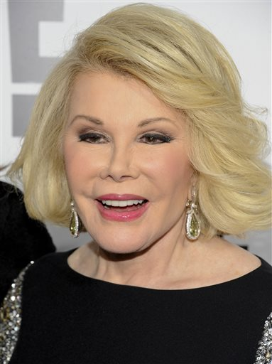 Joan Rivers, 81, is still recovering after going into cardiac arrest at a doctor's office. The Associated Press