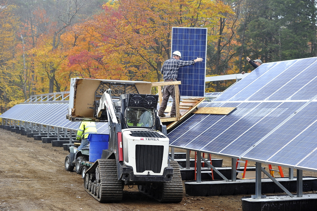 Mount Abram's 803 solar-electric panels will cover about an acre of the ski area's parking lot.