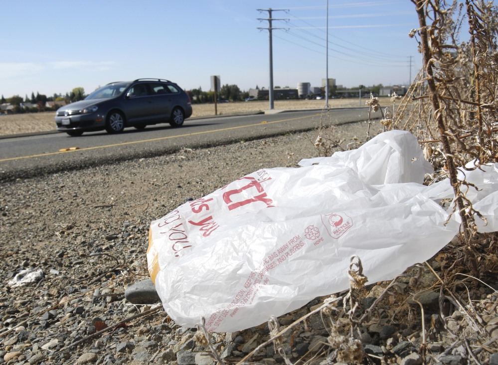 Fewer plastic bags will litter California, according to Gov. Jerry Brown, who signed the law Tuesday.