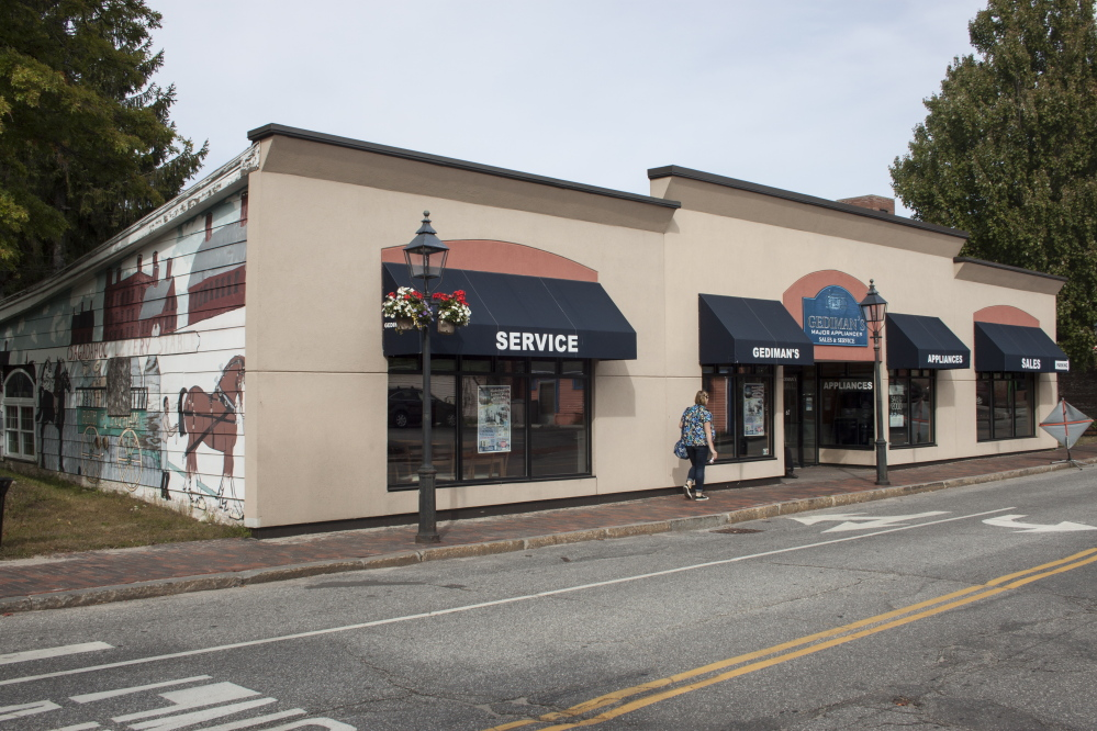 This building at 67 Centre St. in Bath was a Gediman's Appliance store for 70 years before it abruptly went out of business in 2014. Wellness Connection has received historic district approval for modifications it plans to  make to the structure before opening it as a medical marijuana dispensary in August.
