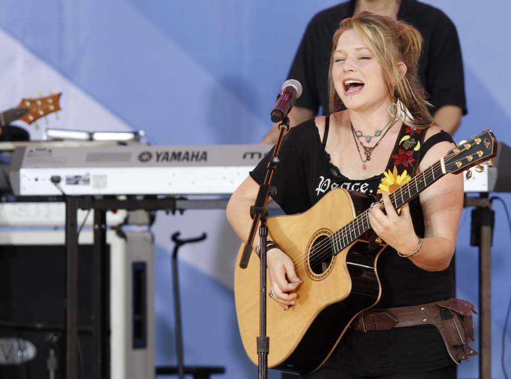 Crystal Bowersox is at One Longfellow Square in Portland on Nov. 9.