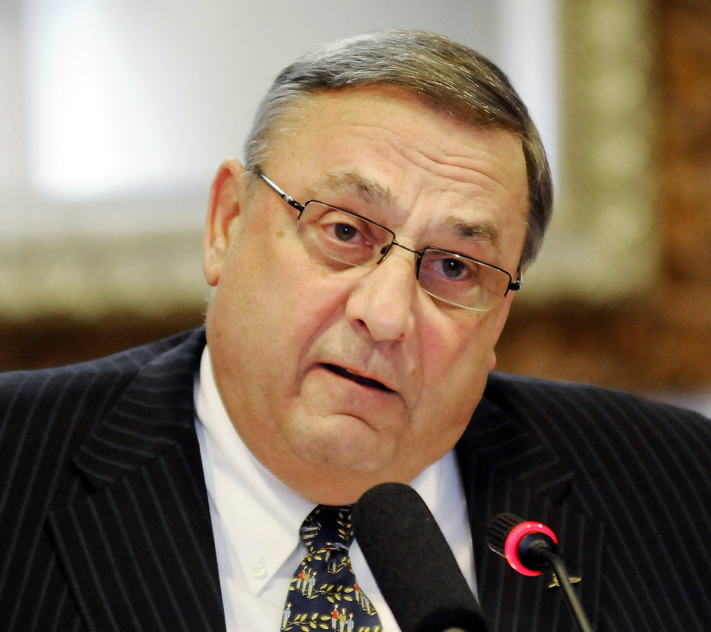Republican Gov. Paul LePage