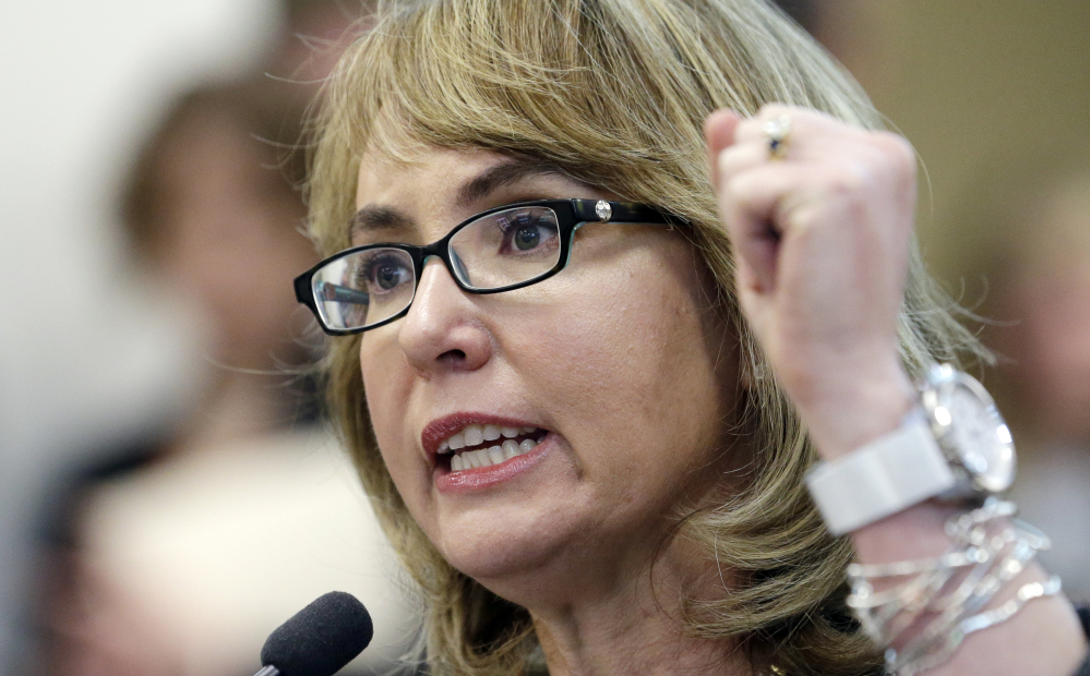 2014 Associated Press File Photo Former U.S. Rep. Gabrielle Giffords of Arizona, who leads Americans for Responsible Solutions along with her husband, Mark Kelly, has said the group will at least match the $20 million the NRA spent during the entire 2012 campaign, which included a presidential race.