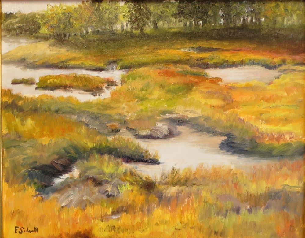 """October Salt Marsh,"" by Felicity Sidwell."
