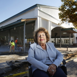 """Geraldine Waterhouse set up a $1.5 million endowment to help Kennebunk officials create the Waterhouse Center. """"When I was young, I loved skating,"""" she said. """"My memories went back to that and I thought, 'Wouldn't it be nice to have a skating rink for the children.'"""" Gregory Rec/Staff Photographer"""