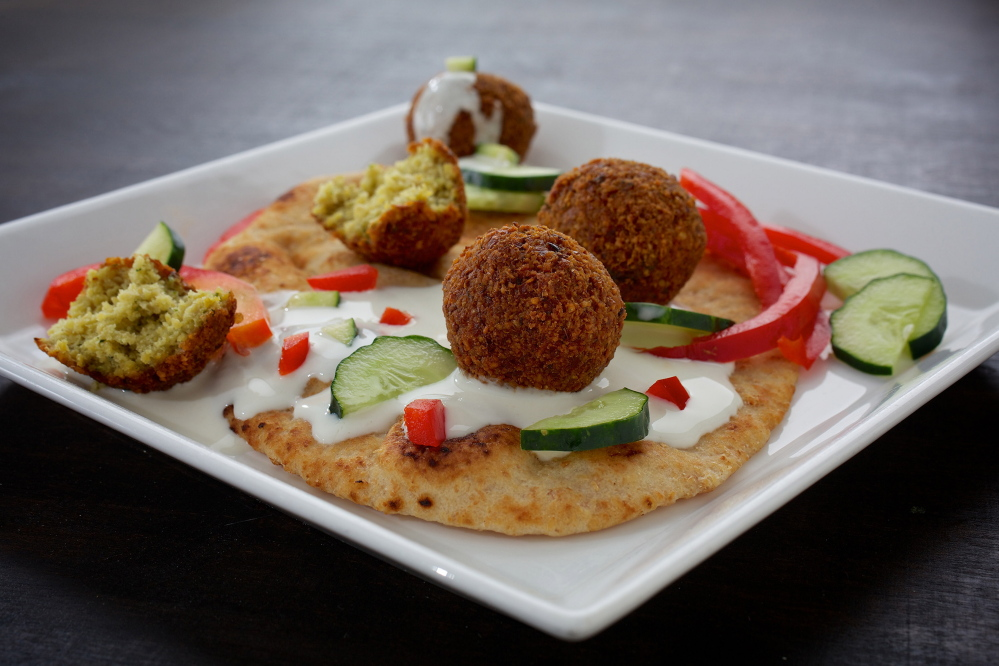 Ginger Falafel With Wasabi Cream.