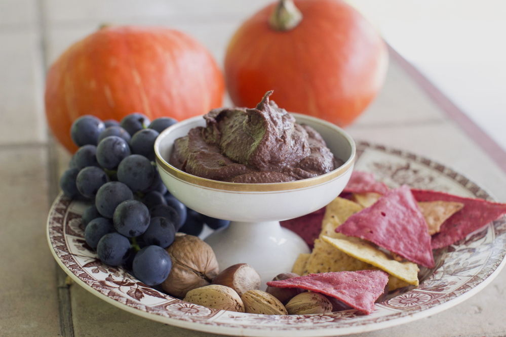 Chocolate hummus is rich, creamy and chocolatey, and thick enough to spread easily. Think of it as a slightly more textured Nutella, and every bit as sweet and delicious.