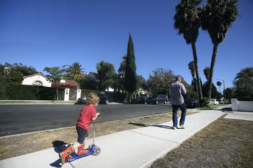 Sarah Cheiker, now 89, lived in this neighborhood on Edinburgh Avenue in Los Angeles until she disappeared in 2008. She was found four years later in a cabin near Edgecomb. Maine authorities placed her in a nursing home in Fryeburg, where she now lives. Mel Melcon/Los Angeles Times