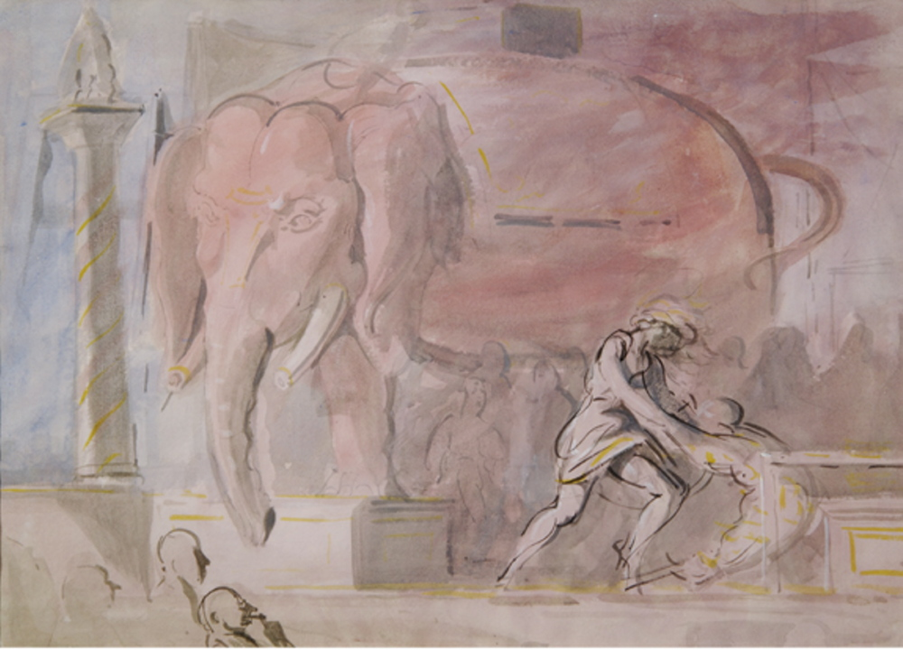"""The Pink Elephant"" by Reginald Marsh"