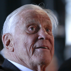 Ben Bradlee, former executive editor of The Washington Post, attends an event sponsored by the Post to commemorate the 40th anniversary of Watergate. Bradlee died Tuesday at the age of 93.