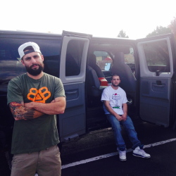 Rapper Spose and tour manager Chadd Wilner, 25, owner of Maine Street Supply Company, stop in Colorado on their tour. Spose's electronic equipment was stolen from his van Monday, and fans contributed more than $15,000 for him to replace it.