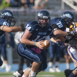 Maine quarterback Drew Belcher appeared hesitant Saturday, looking much too tentative in a 20-7 loss to Albany in his debut start. The education continues Saturday at Rhode Island.