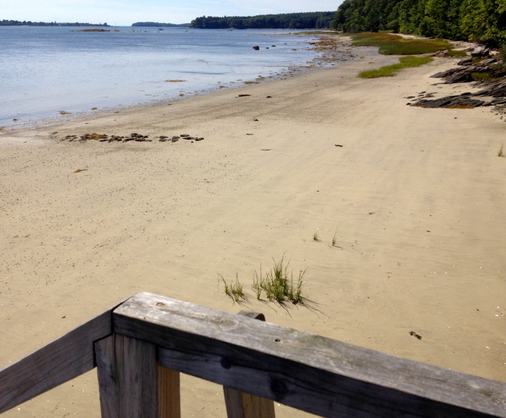 Cumberland voters in November approved borrowing $3 million to finance the purchase of 25 acres of the Payson Property, which includes this stretch of beach.