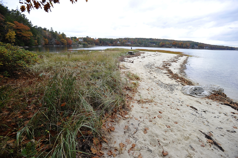 Cumberland plans to clear an area for a parking lot off Foreside Road to allow people to park and walk a short distance to a half-mile of beach.