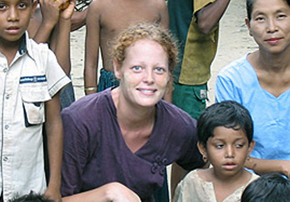 "Kaci Hickox, 33, of Fort Kent was forced to live in a tent outside a New Jersey hospital after returning from Sierra Leone, where she helped treat Ebola patients while working for Doctors Without Borders.  She called the forced quarantine ""inhumane."""