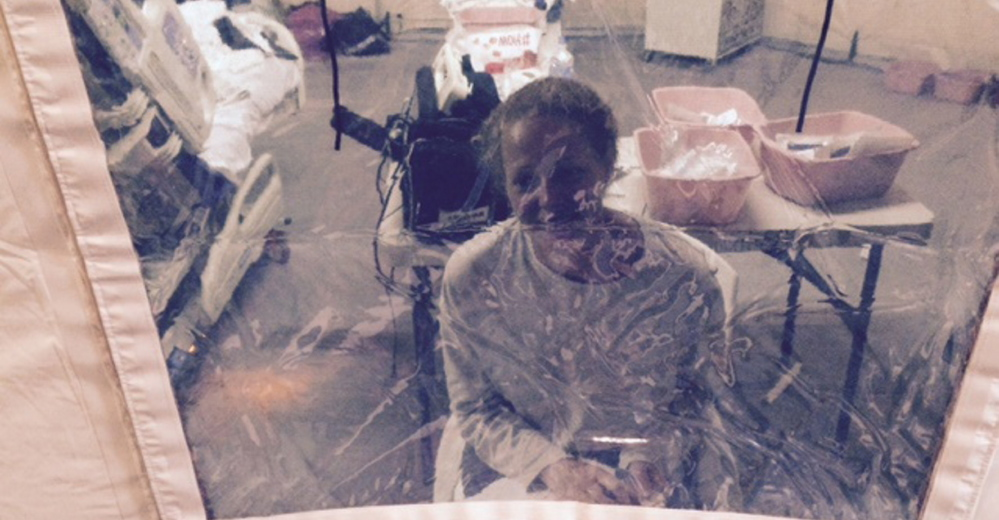 Kaci Hickox, 33, of Fort Kent was photographed by her lawyer, Steven Hyman, in an isolation tent at University Hospital in Newark, N.J., where she was quarantined after flying into Newark Liberty International Airport following her work in West Africa caring for Ebola patients. This unnecessary overreaction raises questions about official preparedness.
