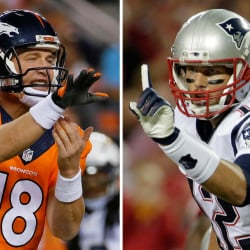It's another Peyton Manning-Tom Brady showdown Sunday at Foxborough, Mass. Brady is 10-5 against Manning, including the playoffs, but the last time they met, Manning won in the AFC championship, 26-16.