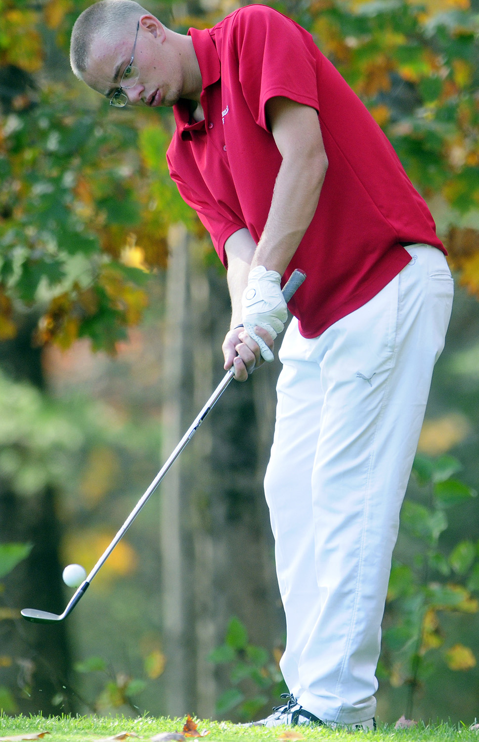 Camden Hills Daulton Wickenden Chips His Ball To The 17th