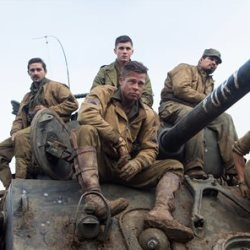 "From left, Shia LaBeouf as Boyd ""Bible"" Swan, Logan Lerman as Norman, Brad Pitt as Sgt. Don ""Wardaddy' Collier"" Michael Pena as Trini ""Gordo"" Garcia, and Jon Bernthal as Grady ""Coon-Ass"" Travis, in Columbia Pictures' ""Fury.""   Sony Pictures Entertainment photo"